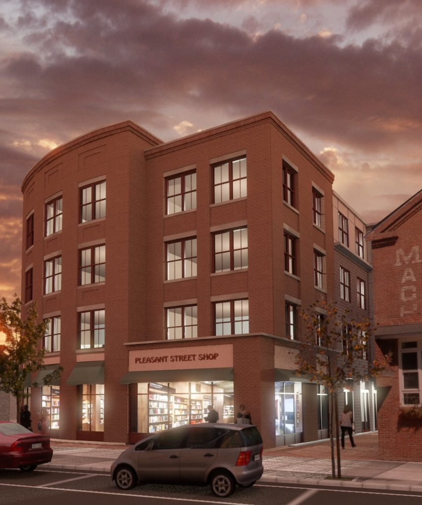 Rendering of The Lumber Yards Apartments courtesy of Valley CDC and Davis Square Architects